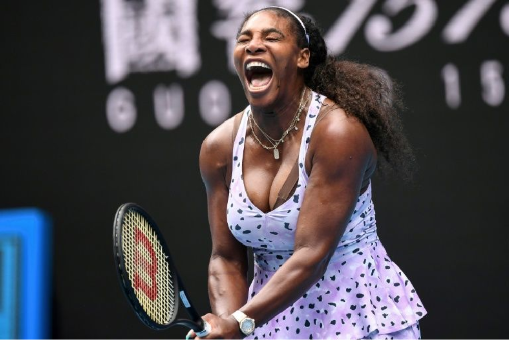 Serena Williams holding a racket